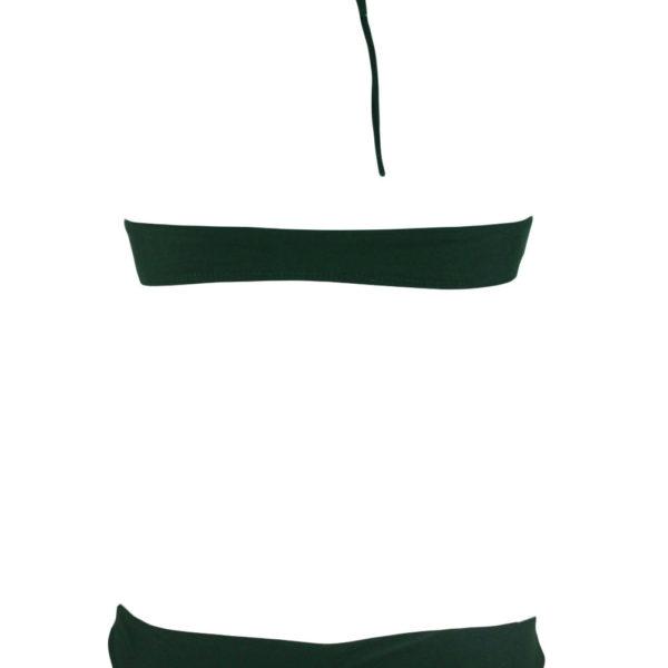 Kétrészes sötétzöld bikini fürdőruha