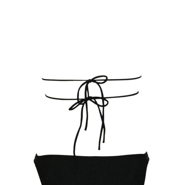 Kétrészes fekete fürdőruha, bikini alsó+felső