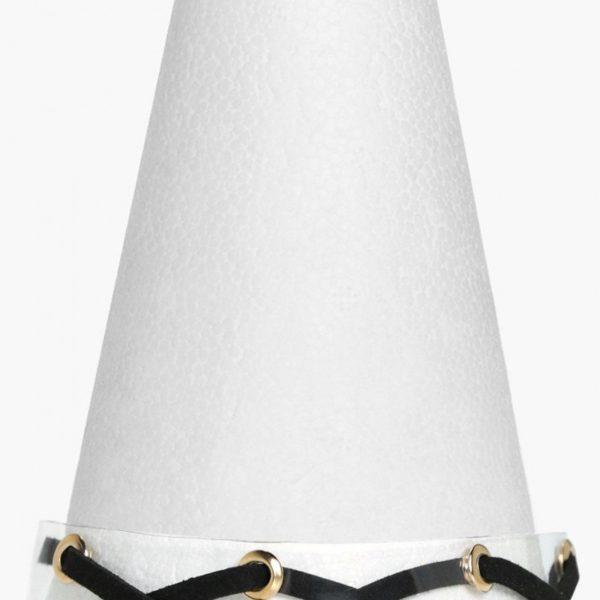 Annabelle áttetsző nyakpánt fekete bőrcsíkos betéttel
