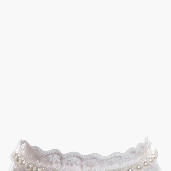Rose fehér csipke/gyöngy nyakpánt