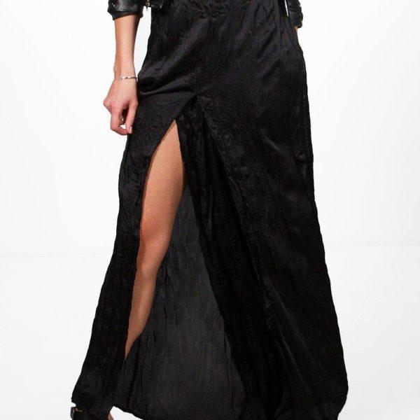 Sara fekete szatén nadrág