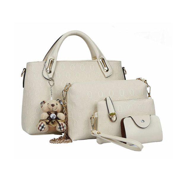 4 részes fehér táska