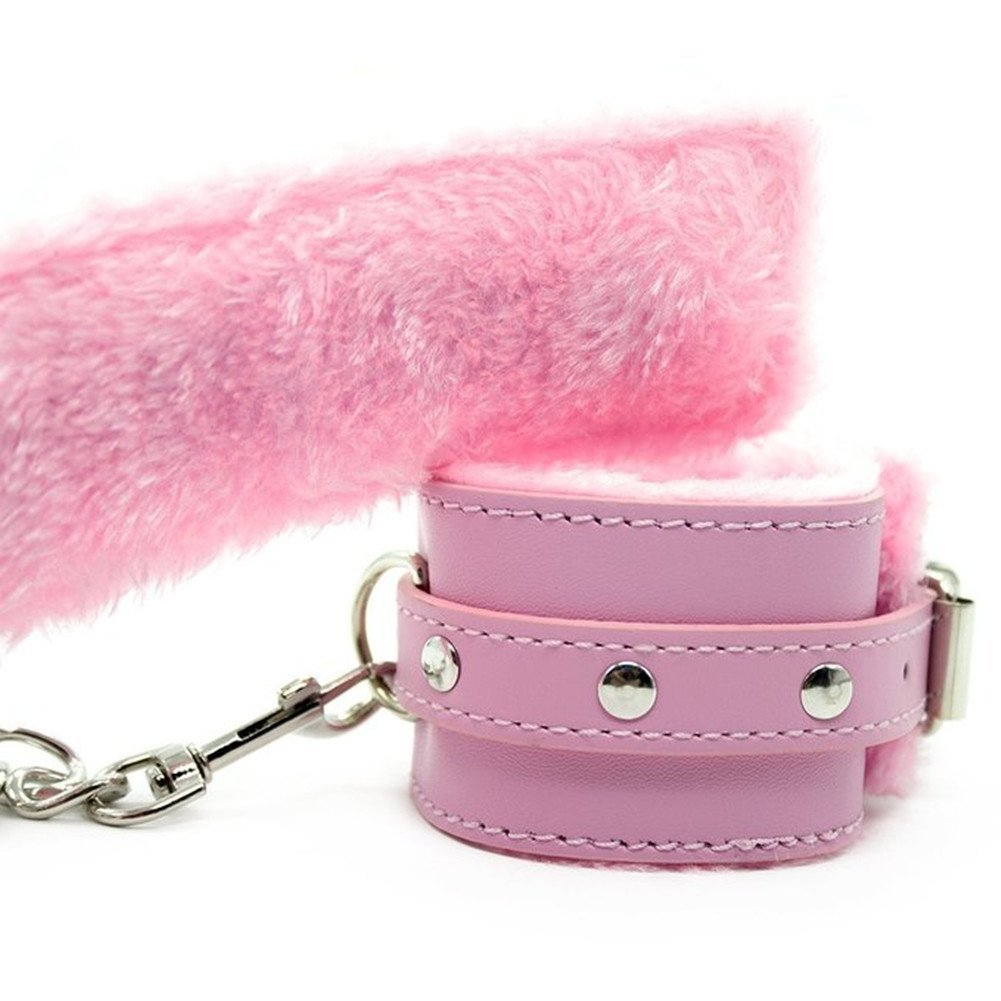 Pink bilincs, plüss belső felülettel, állítható méret