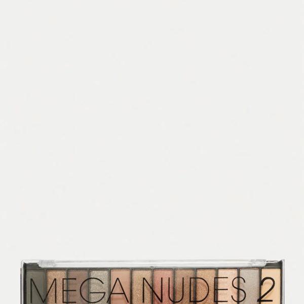 Mega Nudes 2, 12 natúr szín, szemhéjfesték készlet, ecsettel