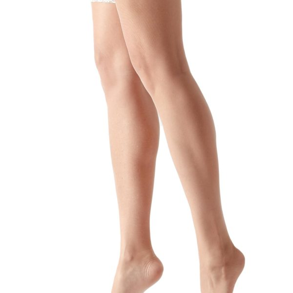 Calzedonia, 8 den ultravékony combfix, törtfehér,