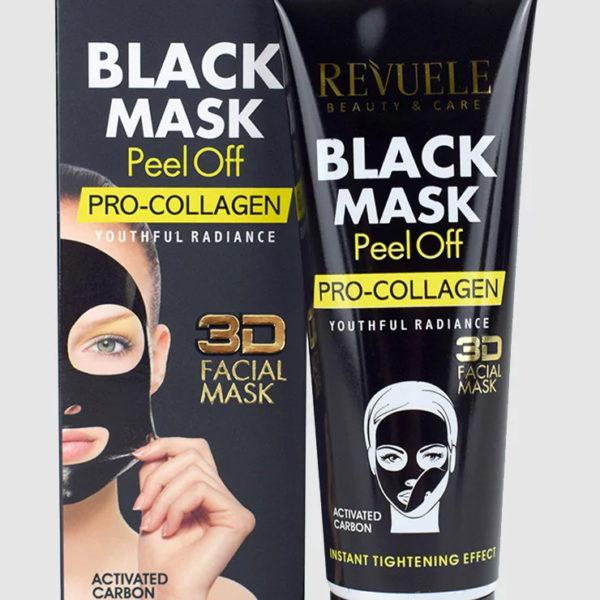 Mitesszerek elleni lehúzható fekete kollagén maszk