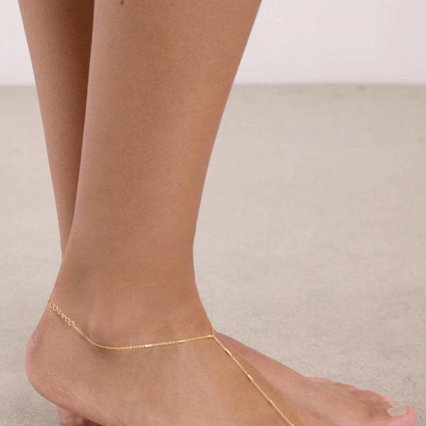 Aliyah aranyszínű bokalánc