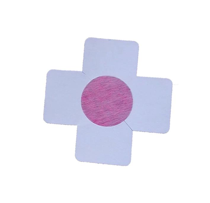 kereszt alakú mellbimbó tapasz pink