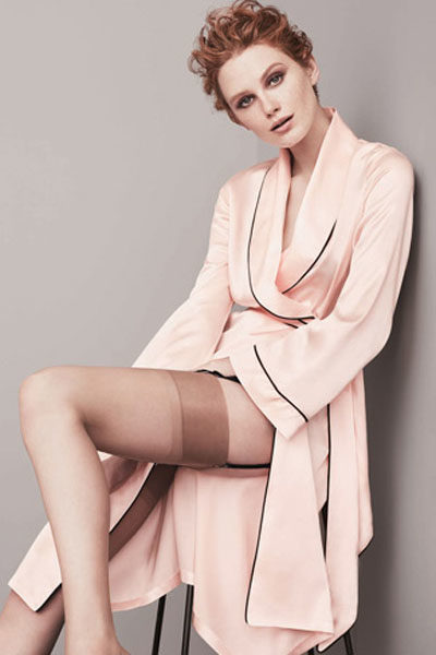 klasszikus pink hálóköntös