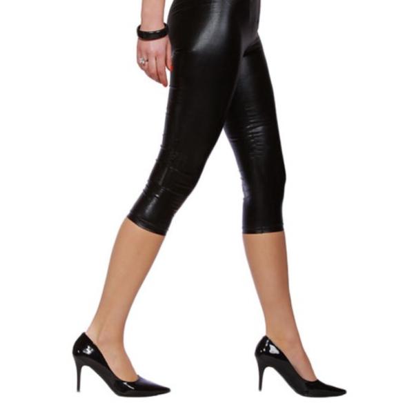 fényes hatású 3/4-es leggings